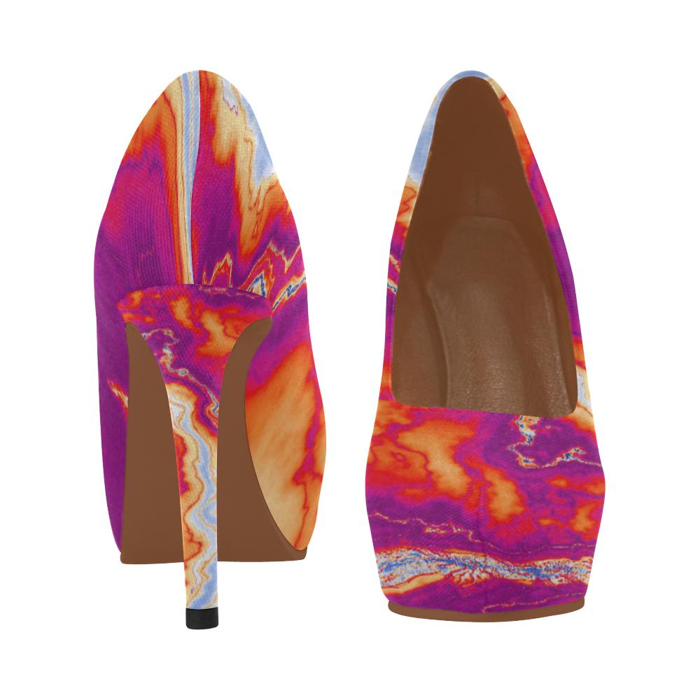 Neon Geode Women's High Heels (Model 044)