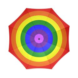 Rainbow Flag (Gay Pride - LGBTQIA+) Foldable Umbrella (Model U01)