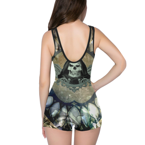 Awesome scary skull Classic One Piece Swimwear (Model S03)