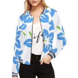 FLORAL DESIGN 34 All Over Print Bomber Jacket for Women (Model H21)