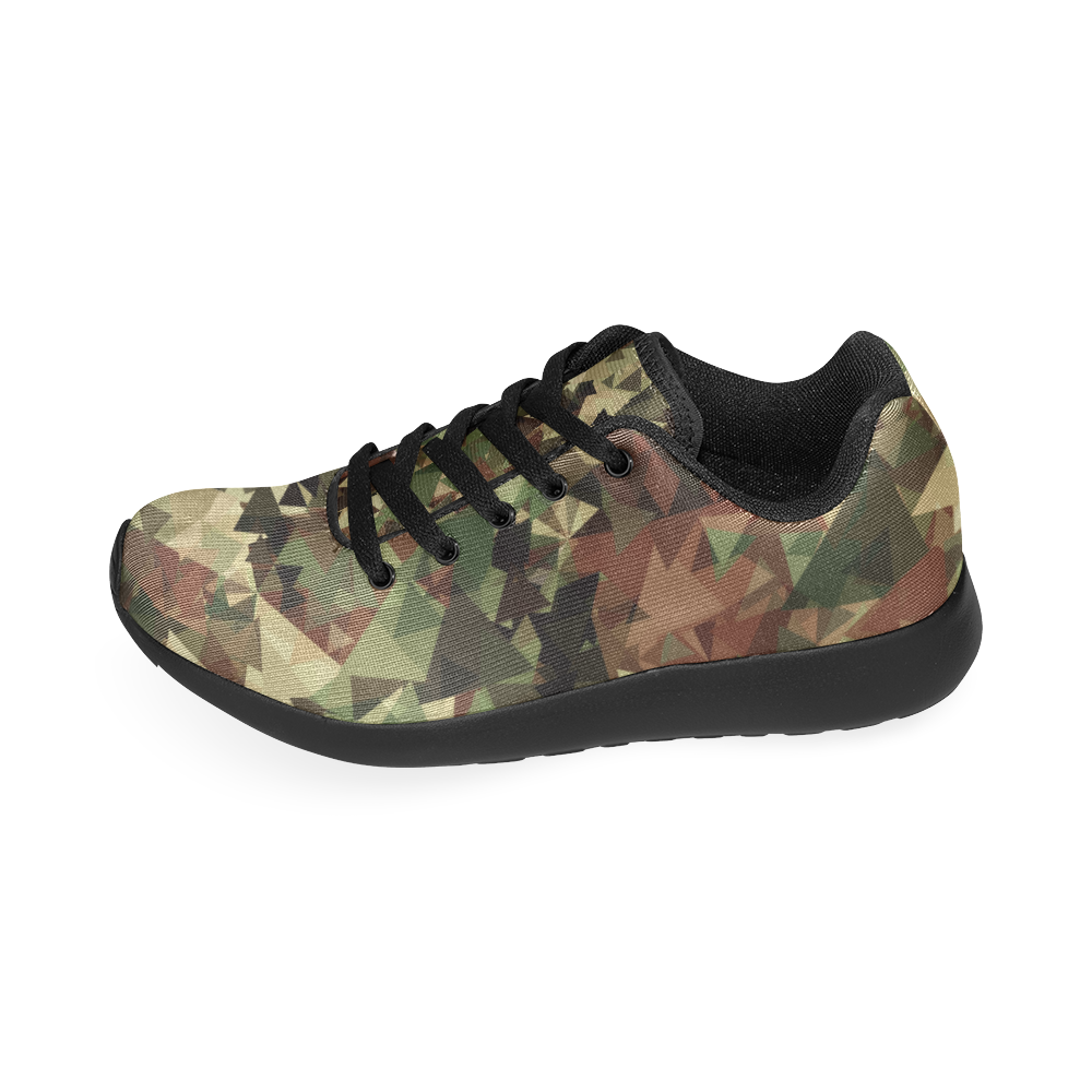 abstract camouflage Women's Running Shoes (Model 020)