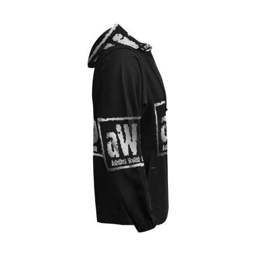AWO All Over Print Full Zip Hoodie for Men (Model H14)