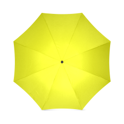 Bright Neon Yellow Foldable Umbrella (Model U01)
