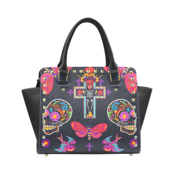 Dia De Los Muertos Rivet Shoulder Handbag (Model 1645)