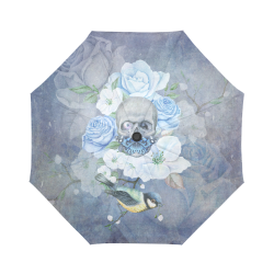 Gothic Skull With Butterfly Auto-Foldable Umbrella (Model U04)