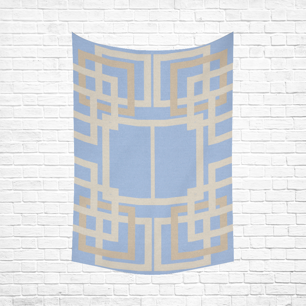 """fashion design in art deco style Cotton Linen Wall Tapestry 60""""x 90"""""""