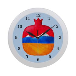 Armenian Pomegranate Circular Plastic Wall clock