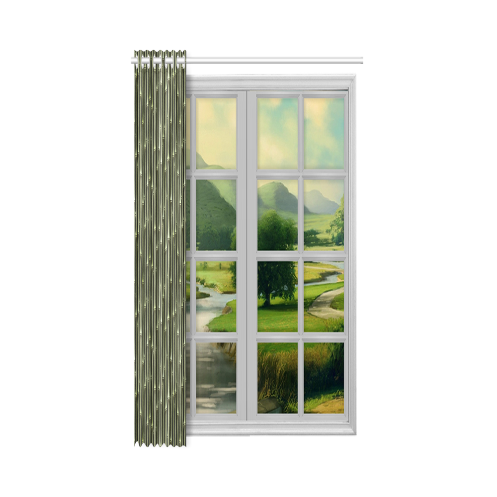 """Bamboo forest New Window Curtain 52"""" x 84""""(One Piece)"""
