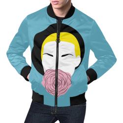 Blonde Bomber All Over Print Bomber Jacket for Men (Model H19)