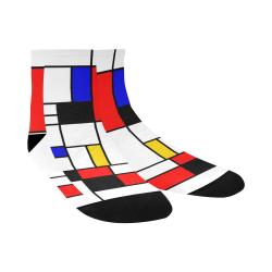 Bauhouse Composition Mondrian Style Quarter Socks