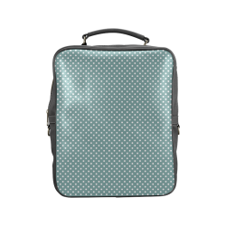 Silver blue polka dots Square Backpack (Model 1618)