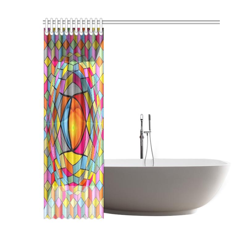"3D by Nico Bielow Shower Curtain 60""x72"""