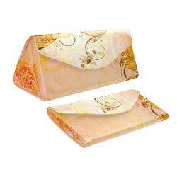 Beautiful flowers in soft colors Custom Foldable Glasses Case