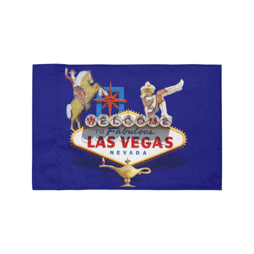 Las Vegas Welcome Sign / Blue Motorcycle Flag (Twin Sides)