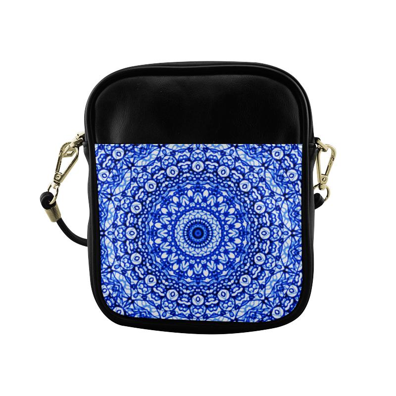 Blue Mandala Mehndi Style G403 Sling Bag (Model 1627)