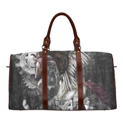Aweswome steampunk horse with wings Waterproof Travel Bag/Small (Model 1639)