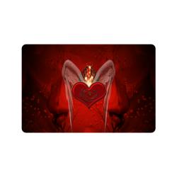 """Heart with wings Doormat 24"""" x 16"""""""