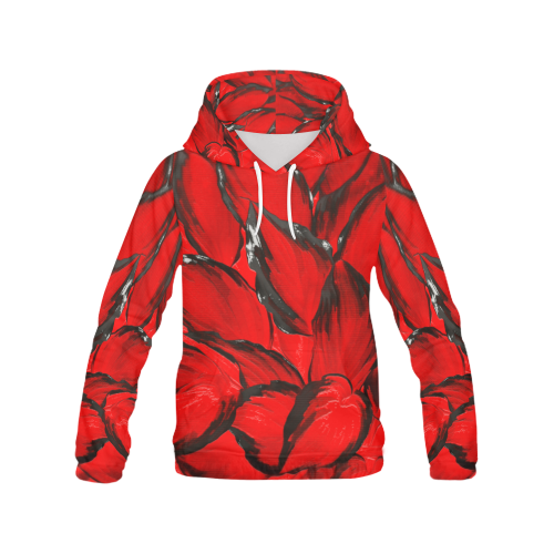 leafs_abstract TRY2 06 All Over Print Hoodie (for Men)
