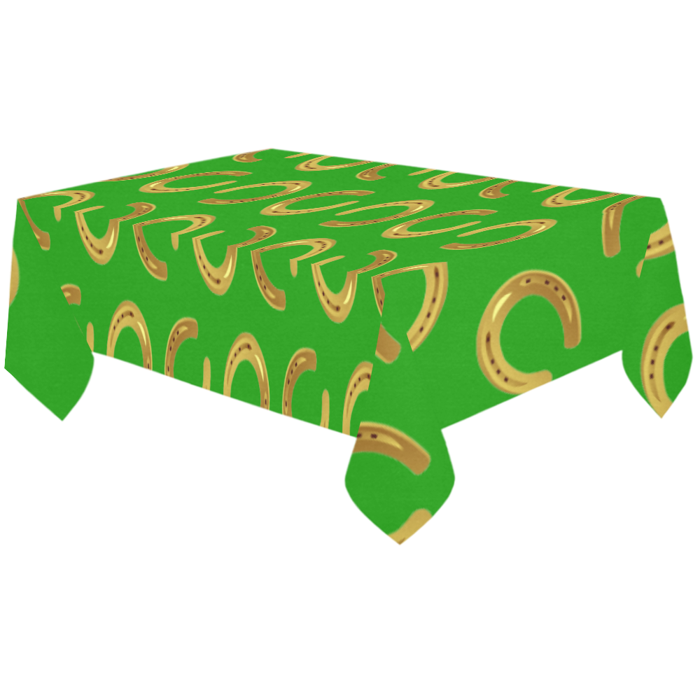 "Golden horseshoe Cotton Linen Tablecloth 60""x120"""
