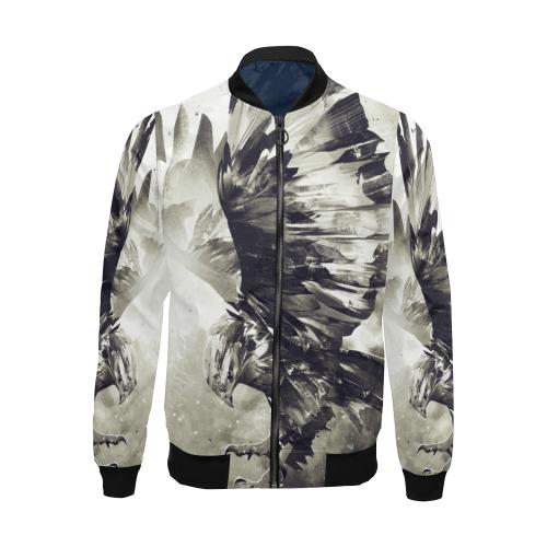 Eagle Bird Animal All Over Print Bomber Jacket for Men (Model H19)