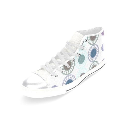 zappwaits e5 Women's Classic High Top Canvas Shoes (Model 017)