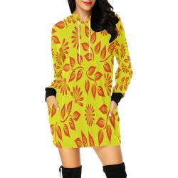 FLORAL DESIGN 2 All Over Print Hoodie Mini Dress (Model H27)