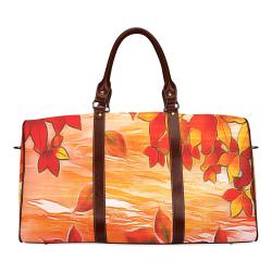 Red Leaves Waterproof Travel Bag/Small (Model 1639)