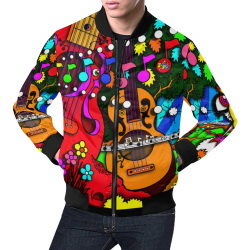 JUNGLEBIRDY - GUITAR TREE FOREST - JACKET All Over Print Bomber Jacket for Men (Model H19)