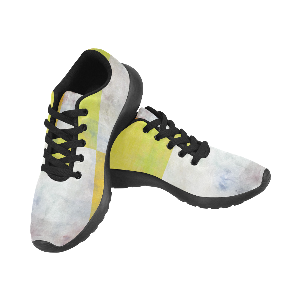 Watercolor Pop by Jera Nour Kid's Running Shoes (Model 020)