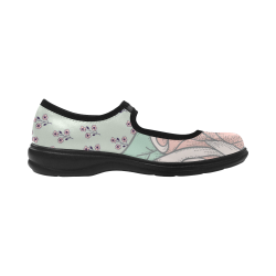 Floral Pastel Pink and Seagreen Virgo Instep Deep Mouth Shoes
