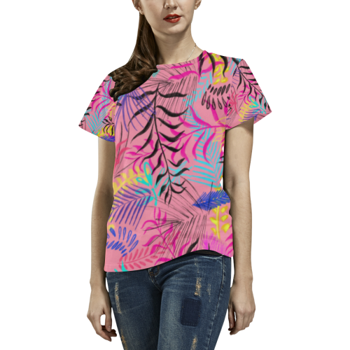 illustration All Over Print T-Shirt for Women (USA Size) (Model T40)
