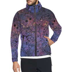 Cosmic Sugar Skulls Unisex All Over Print Windbreaker (Model H23)
