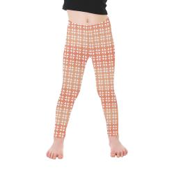 Living Coral Hearts Pattern Kid's Ankle Length Leggings (Model L06)
