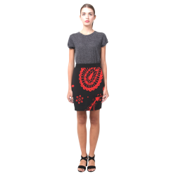 rojo y negro Nemesis Skirt (Model D02)