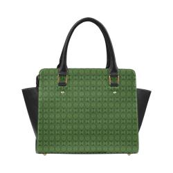 Hunter Green Kaleidoscope Classic Shoulder Handbag (Model 1653)