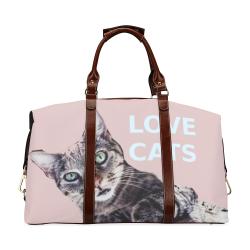 Cat Big Travelling Bag Classic Travel Bag (Model 1643) Remake