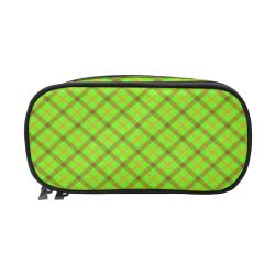 Plaid 1 green tartan Pencil Pouch/Large (Model 1680)