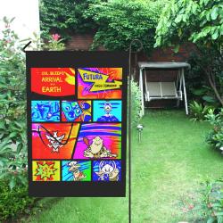 Clonel Bleep Garden Flag Comic Style Garden Flag 12''x18''(Without Flagpole)