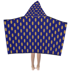 blue spots Kids' Hooded Bath Towels