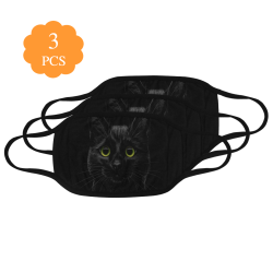 Black Cat Mouth Mask (Pack of 3)