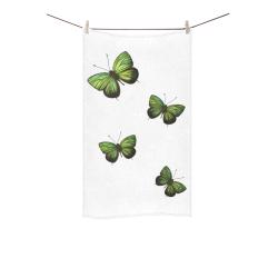 """Arhopala horsfield butterflies painting Custom Towel 16""""x28"""""""