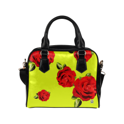 Fairlings Delight's Floral Luxury Collection- Red Rose Shoulder Handbag 53086h17 Shoulder Handbag (Model 1634)