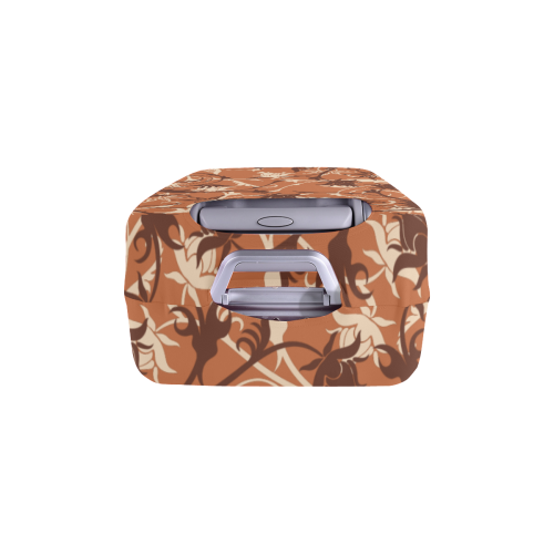 """plants and flowers caramel Luggage Cover/Large 26""""-28"""""""