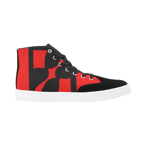 black ivolve in red Herdsman High Top Shoes for Women (Model 038)