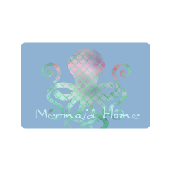 "PiccoGrande`s Blue Mermaid Home octopus Doormat 24""x16"""