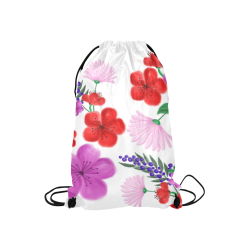 """BUNCH OF FLOWERS Small Drawstring Bag Model 1604 (Twin Sides) 11""""(W) * 17.7""""(H)"""