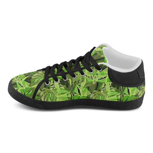 Tropical Jungle Leaves Camouflage Women's Chukka Canvas Shoes (Model 003)