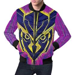 OWLFORMERS ART All Over Print Bomber Jacket for Men (Model H19)