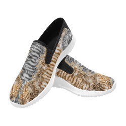 Luxury Abstract Design Orion Slip-on Men's Canvas Sneakers (Model 042)