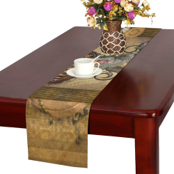 Steampunk lady with owl Table Runner 16x72 inch